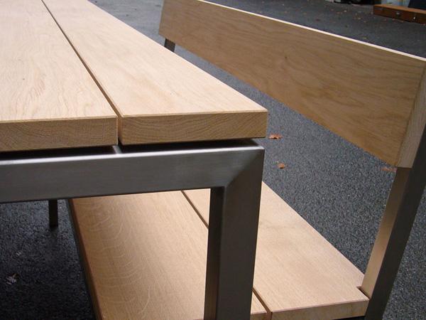 Tischplatte Gartentisch Holz ~ Mit einem Blatt aus den wetterbeständigen Hölzern Eiche oder Lärche